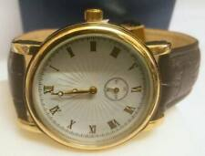 BRAND NEW DESIGNER ITALIAN COLLECTION GOLD PLATED GENTS WRIST WATCH