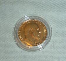 More details for edward vll - full gold  sovereign 1910, 22 carat gold 7.95g