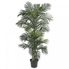 Large Artificial Tree 6.5' Indoor Tropical Plant Realistic Golden Cane Palm Silk