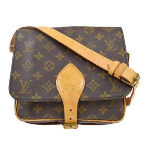 LOUIS VUITTON CARTOUCHIERE MM SHOULDER BAG PURSE M51253 874SL MP00254