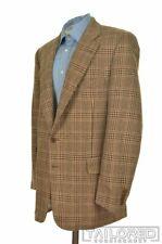 PAUL STUART Brown Glenurquhart CAMELHAIR Mens Blazer Sport Coat Jacket - 45 L