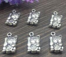 New 3pcs Tibetan silver fortune cat  pendant   F79