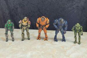 Microsoft Halo Action Figure Lot USNC Master Chief Aliens Sangheili USED