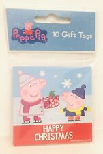 10 X Merry Christmas Peppa Pig gift tags (Purple) - New