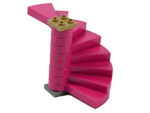 LEGO STAIRS MAGENTA (x8 steps) spiral round castle girls pink +
