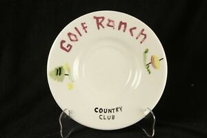 The California Cleminsons Hand Painted Golf Ranch Country Club Saucer Vintage