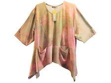Lockre Sitzende Damenblusen,-Tops & -Shirts im Tuniken-Stil mit Viskose ohne Mehrstückpackung