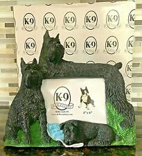 Schnauzer Picture Frame holds a 4x6 pic. K-9 Kreations Dog Nib
