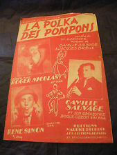 Partition La polka des pompons René Simon Camille Sauvage 1948  Music Sheet