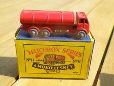 MATCHBOX 11 A LESNEY MOKO ERF CITERNE TANKER CALANDRE RESERVOIRE BICHON OR B1