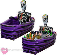HALLOWEEN DRINKS COOLER DAY OF THE DEAD SKELETON COFFIN INFLATABLE PROP GRAVE