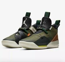 "Air Jordan XXXIII Travis Scott ""Cactus Jack"" Army-Olive/Sail-Ale Brown Size 11"