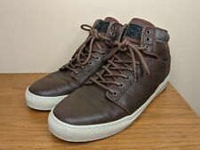 Vans Ultracush Alomar Shoes Men's Size 13 High Top Leather Skate Brown Sneakers