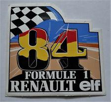 Aufkleber F1 Formule 1 Renault elf RE50 Turbo 1984 Spa Sticker