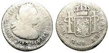 CARLOS IIII. 1/2 REAL. 1791. NUEVA GUATEMALA. RARA.
