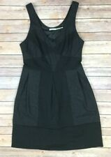 Urban Outfitters Kimchi Blue Size 2 Dress Wool Blend Black Grey Color Block
