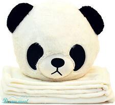 Kid's Panda Throw Pillow Cushion with Detachable Blanket Insert, Dreamsweet B7PA