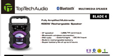 Portable Mini Speaker, Bluetooth 400 Watt with Flashing Party Lights