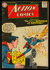 Action Comics #223 Unrestored Early Silver Age Superman DC 1956 GD-