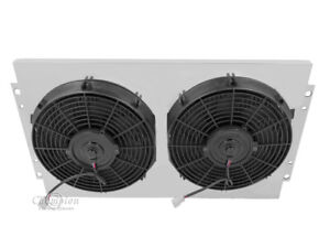 "Chevy Impala Aluminum Radiator Fan Shroud & 2-12"" Electric Fans-16 x 25 1/4 289"