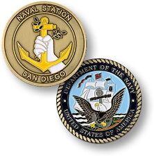 Naval Base San Diego Challenge Coin USN Navy Port Bay Station Anchor Seal US