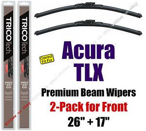 Wipers 2-Pack Premium Beam Wiper Blades - fit 2015+ Acura TLX - 19260/170