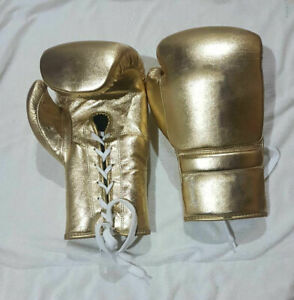 New professional Custom golden boxing gloves, any logo Name,no winning,no grant