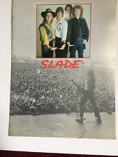 Vintage Slade Tour Book Till Deaf Do Us Part (Rare)