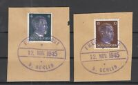 BY6998/ GERMANY – RUSSIAN ZONE – FREDERSDORF – MI # 3 – 7 USED ON PIECES