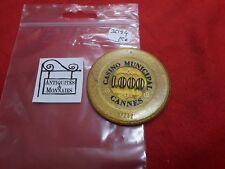 JETON DE CASINO CANNES MUNICIPAL VALEUR 1000 - REF36124
