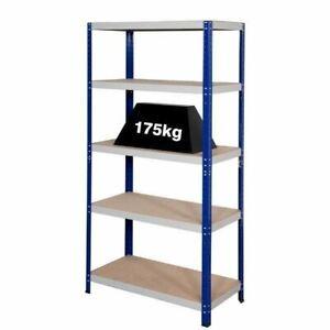 Shelving Unit 175 kg 5 shelves Heavy Duty Garage workshop room shelf 900mm