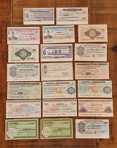 ITALY - Mixed lot of 20 Italian Credit notes