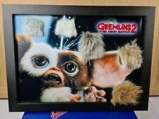 Gremlins 2 mogwai fur x5 screen used from rick baker certificate propstore frame