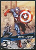 2015 Marvel 3-D Trading Card #4 Captain America