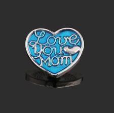 Love You Mom Interchangeable Snap Button Charm Noosa Chunk 18mm Snap for Jewelry