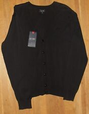 """Armani Jeans Mens Black Knitted Cardigan Size UK XXL 44"""" Chest"""