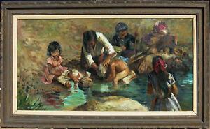 Filastro Mottola  (1915 - 2008) Large Org. Oil California Listed Artist