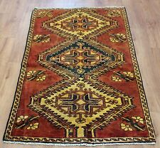 OLD WOOL HAND MADE ORIENTAL FLORAL RUNNER AREA RUG CARPET 165x90CM