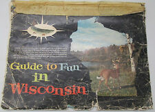 Vintage Guide To Fun In Wisconsin Recreation Information Where To Go Map Book