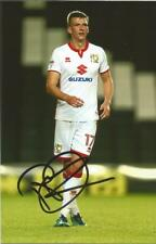 MK DONS: PAUL DOWNING SIGNED 6x4 ACTION PHOTO+COA