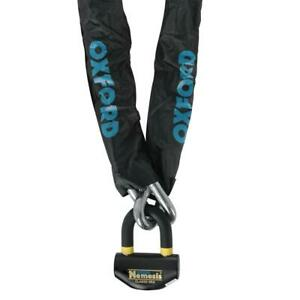 Oxford Nemesis 16mm Ultra Strong Motorcycle Bike Chain and Padlock - 1.2m