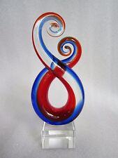 Rare Vintage A. DAL BORGO Murano Art Glass Italy Hand Blown Sommerso Sculpture