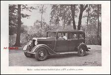 Publicité  Berliet 6 Places  car vintage print ad  1933 - 11h