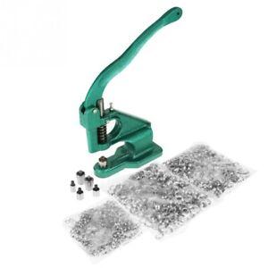 Grommet Eyelet Machine 1cs Hand Tool 1500pcs Grommets Size 6/10/12mm 3 Sets Dies