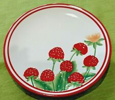 "CRACKER BARREL Decorative 8"" Plate Raspberries Red Trimmed Berries Dessert Plate"