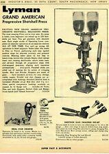 1963 Print Ad of Lyman Grand American Progressive Shotshell Reloading Press