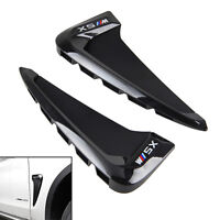 For X5 F15 2014 2015 Black Side Wing Air Flow Fender Grill Intake Vent Trim 2PCS