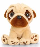 Soft Cuddly Toy Teddy Pug Pugsley Dog Keel Toys 14cm or 20cm