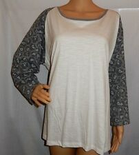 """""""ED.IT.ED"""" - BNWT - Size 24 - White with Grey Long Sleeve Cotton T-Shirt"""