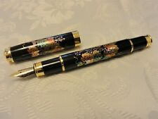 """Japanese Urushi Lacquer  Makie fountain Pen """"Ivy"""""""